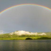 Rainbow Seen In Paradise Falls